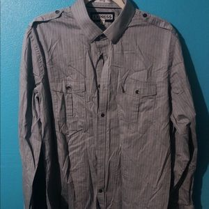 🍄 Men's Express Fitted Casual Button Down
